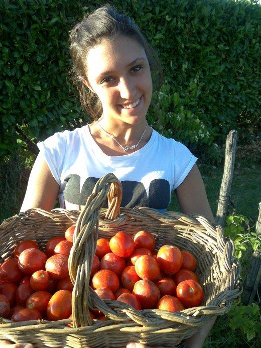 Martina mi ha aiutato nel raccolto